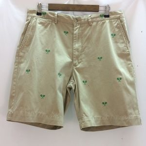 POLO BY RALPH LAUREN EMBROIDERED CHINO SHORTS 35